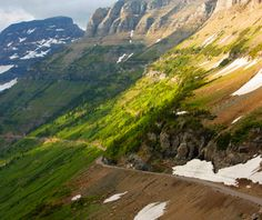 We'll be traveling on the Going to the Sun Road twice during our Glacier Park hiking tour. #Montana