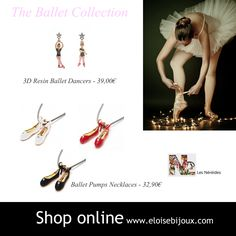 Les Nereides Ballet Earrings Necklace