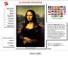 Animation interactive de la Joconde --- Interactive animation of the Mona Lisa available in several languages -- fun way of reviewing adjectives of emotion.  via @cultureplanete