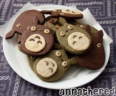 Non-bento #37: Totoro cookies   Flickr - Photo Sharing!