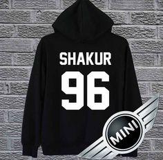 Shakur Shirt 2PAC Tupac Hoodie Sweatshirt by HoodieMiniCrack
