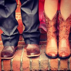 so want to do this with my boyfriend its just it would be my cowboy boots and his steel toe boots