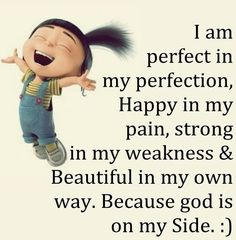 I am perfect...thanks to God