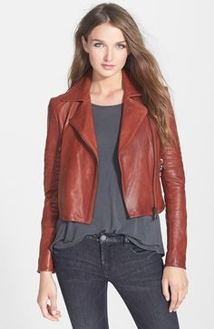 J Brand Ready-To-Wear 'Aiah' Leather Crop Jacket | Nordstrom