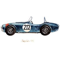 """1967 Shelby Cobra, classic automobile watercolor print, 8x10"""" ($20) ❤ liked on Polyvore featuring home, home decor, wall art, drawings, inspirational home decor, textured wall art, white wall art, watercolor wall art and airplane wall art"""