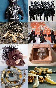 Hoodoo Magick Rootwork:  Voodoo Witch Doctor objects.