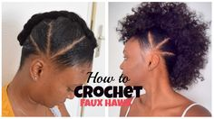 How TO Crochet FAUX HAWK with OverTheTopHairCollection | Hellow Natural Beauty