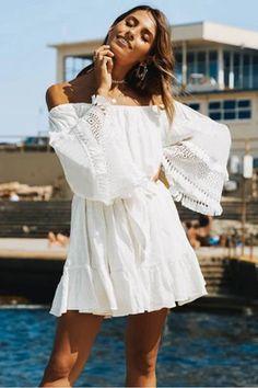 Summer Style Mini Dresses – Maizys Boutique Informal Wedding Dresses, Off Shoulder Dresses, Sexy Maxi Dress, Cotton Tunics, Beach Dresses, Mini Dresses, White Dress, White Lace, White Cotton