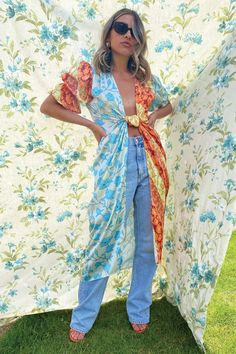Multi Indi Splice Dress – Never Fully Dressed Kimono Top, Tights, Sleeves, Model, How To Wear, Fashion Tips, Outfits, Collection, Tops