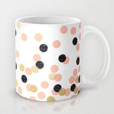 Pink & Black Polka Dots Mug by cafelab - $15.00