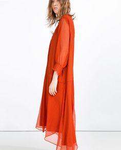 Image 4 of LONG OVERSIZED DRESS from Zara