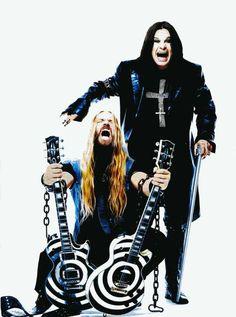 Zakk Wylde & Ozzy Osbourne by dee Heavy Metal Rock, Heavy Metal Music, Heavy Metal Bands, Black Metal, Ozzy Osbourne, Hard Rock, Metallica, Black Sabbath, Rock Roll