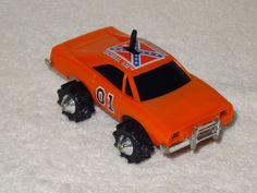 Rare Schaper Stomper LJN Rough Rider General Lee Dukes of Hazard Car Retro Toys, Vintage Toys, Childhood Toys, Childhood Memories, Action Tv Shows, Dukes Of Hazard, General Lee, Old School Toys, Cartoon Toys