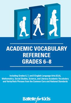 Grades 6-8 academic content vocabulary and verb phrases in ELA, math, science and social studies. http://www.battelleforkids.org