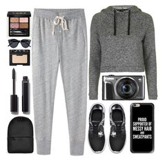 """""""No apologies"""" by itaylorswift13 ❤ liked on Polyvore featuring Topshop, Steven Alan, NIKE, Casetify, Rains, Chanel, NARS Cosmetics, Le Specs and Gucci"""