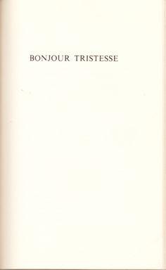 Bonjour Tristesse: Enchanting piece.