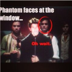 Haha because he is the phantom in phantom of the opera on broadway