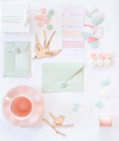 Pretty Pastel Tea Party Moodboard Colour palette Incredible Crafts and Moodboard Ideas