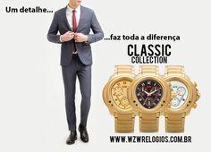 Complemente o seu estilo com nossa Coleção Clássica. Um detalhe pode fazer toda a diferença. Os relógios sofisticados com design exclusivo alemão e com alto padrão de qualidade você encontra aqui na WZW Relógios www.wzwrelogios.com.br #WZWRelógios #RelógiosSofisticados #DesignAlemão #AltoPadrãodeQualidade #Beleza #Estilo #ColeçãoClássica