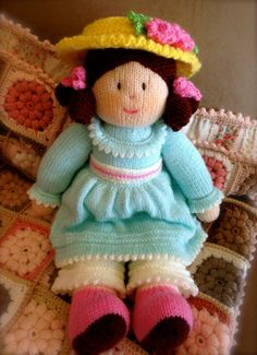Emily  Beautifully hand knitted doll with cute by LANAsCRAFT, $75.00