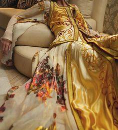 Silky caftan with golden sfifa! <3