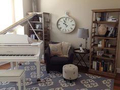 My piano room <3. Aka, my office.