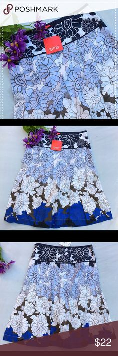 """🎈SALE🎉BNWT Esprit floral pleated skirt 4 🎉$10 SALE! FINAL PRICE! Comment for custom bundling to save on shipping only. No add'l bundle discount! Super cute, never worn with tags. Side zipper. 100% cotton. Skirt is lined. Waist is approx 28"""", 22"""" in length. Hits slightly above the knee.. 100% cotton. ESPRIT Skirts"""