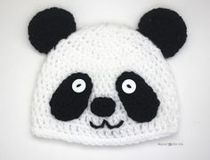 Panda Crochet Baby Hat FREE Pattern
