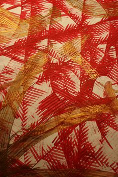 Red, Gold and White Paste Paper by ccerruti, via Flickr