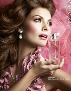 Mary Kay Perfume Adverts, Makeup For Brown Eyes, Eye Makeup, Perfume Bottles, Hair Beauty, Advertising, My Style, Pretty, Pink Diamonds