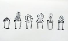 Michel Sorry about the tasteful noodz. Sharpie Drawings, Sharpie Art, Art Drawings, Cactus Doodle, Cactus Art, Cactus Flower, Sharpie Zeichnungen, Cactus Drawing, Tableau Design
