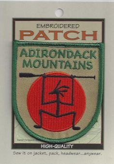 Souvenir Patch The Adirondack Mountains New York Adirondacks Paddler   eBay