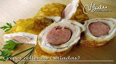 Crepes Dukan rellenas de longaniza de pollo y pavo (Ataque)
