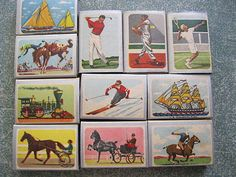 Vintage Ohio Blue Tip Matches - Collectible Illustrated Boxes 1950s-60s