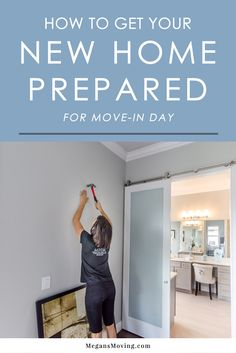 There are a lot of things to do to prepare for a move, so it can be easy to forget some key things for the new home. Don't skip the things on this list before move-in day! Moving New House, Moving Day, Moving Tips, Moving Hacks, Move In Cleaning, Deep Cleaning Lists, New Home Checklist, Moving Checklist, Craftsman Style Kitchens