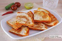 Receta de quesadillas de sobrasada con queso Havarti. Con fotos del paso a paso, consejos y sugerencias de degustación. Recetas de tapas y...