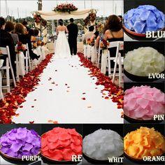 Multi-color de Rosa Pétalos de La Boda Accesorios Petalas Artificiais Barato petale de rose de seda Pétalos de Rosa Pétalos de la boda decoración