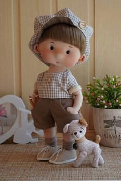 Fotos en el muro de la comunidad | VK Doll Sewing Patterns, Sewing Dolls, Child Doll, Boy Doll, Doll Making Tutorials, Homemade Dolls, Hello Kitty Birthday, Clay Dolls, Waldorf Dolls