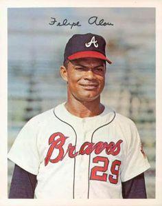 1967 Dexter Press Atlanta Braves #2 Felipe Alou Front