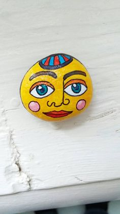 Miniature Art Painted Rock Art Quirky Decor by HaircutForAMoose