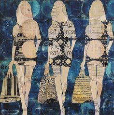 3 Circle Girls | From a unique collection of mixed media at https://www.1stdibs.com/art/mixed-media/mixed-media/