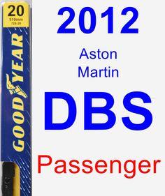 Passenger Wiper Blade for 2012 Aston Martin DBS - Premium