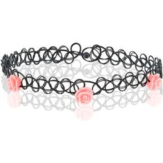 Accessorize Carved Rose Woven Plastic Choker Necklace ($8) ❤ liked on Polyvore featuring jewelry, necklaces, plastic necklace, rose choker, choker jewelry, rose jewelry and tattoo choker necklace