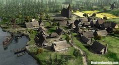 Risultati immagini per medieval village Fantasy Village, Fantasy City, Fantasy Map, Fantasy Places, Fantasy World, Medieval Village, Medieval Houses, Medieval Life, Medieval Fantasy