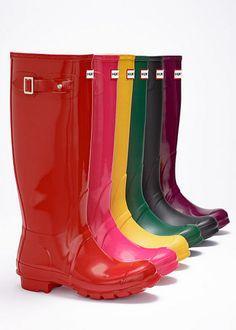 'Hunter' rain boots - I'll take a pair in each color, please!