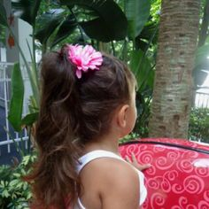 How to make your hair look longer in a pony tail!