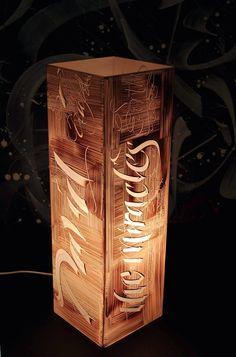 Calligraphy by Loredana Zega : Unique Lamps