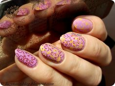 Plate BC-08 from Lady Queen Secret Nails, Queen, Lady, Blog, Purple, Nail Polish, Beauty, Beleza, Purple Stuff