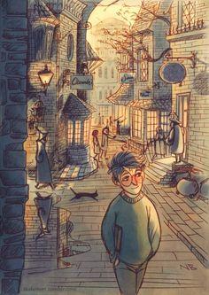 Diagon Alley ⚡ by Natello's Art