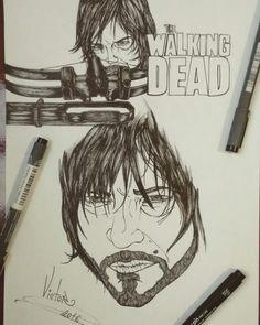Desenho finalizado DARYL / THE WALKING DEAD 2016